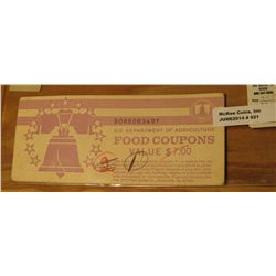 921. Series 2000B U.S. Department of Agriculture Food Coupons Value $7.00. Now obsolete and very col