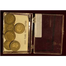 934. Plastic case with (8) 1953 Spain One Peseta Coins.