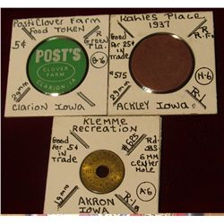 962. Post's Clover Farm Clarion, Ia. Token; Kahles Place (1937) Good for 25c in Trade Token from Ack