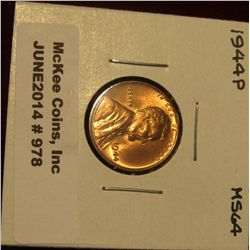 978. 1944 P Lincoln Cent. Brilliant MS 64.