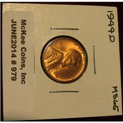 979. 1944 D Lincoln Cent. Brilliant MS 65.