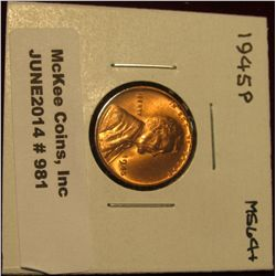 981. 1945 P Lincoln Cent. Brilliant MS 64+.
