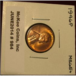984. 1946 P Lincoln Cent. Brilliant MS 65+.