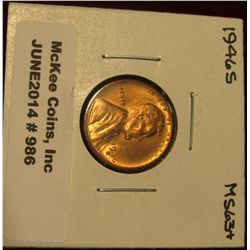 986. 1946 S Lincoln Cent. Brilliant MS 63+.