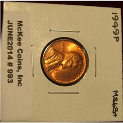 993. 1949 P Lincoln Cent. Brilliant MS 63+.
