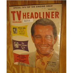 "1078. March, 1958 Magazine ""TV Headliner"". Stories such as ""Phyllis Kirk: ""There are no wolves in Ho"