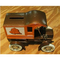 1083. Ertl Co., Dyersville, Iowa Coin Bank. Replica 1905 Ford's First Delivery Car Heavy metal, near