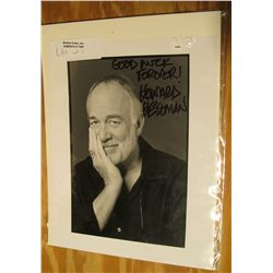 "1087. Howard Hesseman, WKRP in Cincinnati Autographed 8"" x 10"" black and White Photo. ""Good luck For"