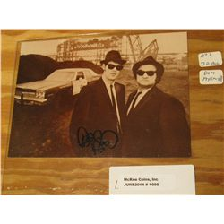 "1095. 4.5"" x 6.25"" Card of the Blues Brothers autographed by Dan Hykroyd."