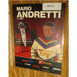 "1096. 8.25"" x 10.75"" Autographed Color Poster of Mario Andretti. August, 1972."