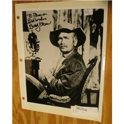 "1098. ""To Eleanor Best Wishes Buddy Ebsen"" 8"" x 10"" Black and White Photo. (Jed Clampet)."