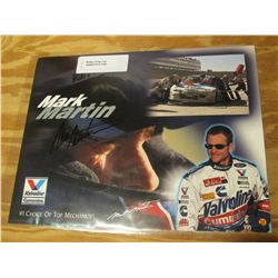 "1100. ""Mark Martin"" Autographed Color Poster. Valvoline Cummins #1 Choice of Top Mechanics."