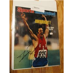 1105. Sports Illustrated 1976 Cover Photo Autographed by Bruce Jenner.