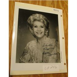 "1106. 8"" x 10"" Autographed photo of Debbie Reynolds."