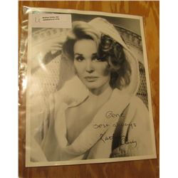 """1110. Autographed Black and White Photo """"Kathryn Crosby""""."""