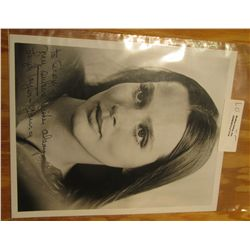 """1114. Autographed Black and White Photo """"Leigh Taylor-Young"""", whom is mother of Patrick O'Neal."""