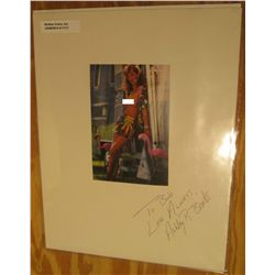 1117. Autographed Color photo of Ashley R. Brooks, Playboy Model. Complete with a letter from Ashley