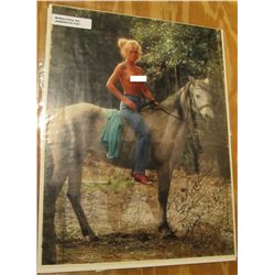 1121. Autographed Photo with correspondence from 1986 from Playboy Model Carolyn M. Fisher.