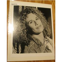 """1124. 8"""" x 10"""" Autographed Photo of Carole King, Her career began in the 1960s when King, along with"""