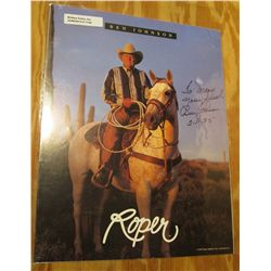 "1126. 1995 8.5"" x 11"" Color Photo Autographed by Ben Johnson. ""Roper""."