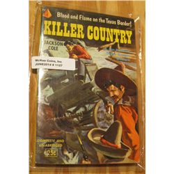 """1127. """"Killer Country"""" .25c Paperback book by author Jackson Cole. Cover depicts superb artwork."""