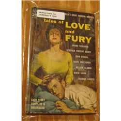 "1128. .25c Paperback Book ""Tales of Love and Fury"". Nice Cover art."