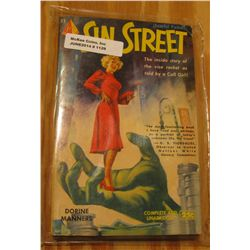 """1129. 25c Paperback Book """"Sin Street"""", by Dorine Manners. Nice cover art."""