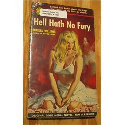 """1131. Original Gold Medal Novel """"Hell Hath no Fury"""", by Charles Williams. Risque cover art."""