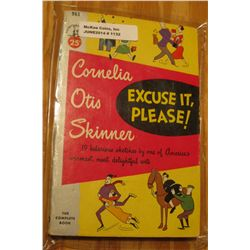 "1132. Original .25c Pocket Book ""Excuse it, Please!"", by Cornelia Otis Skinner."