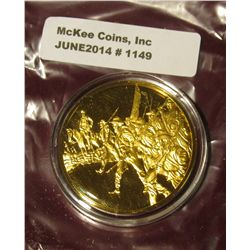 """1149. """"Jackson's Valley Campaign March 23-June 9, 1862"""". Sterling Silver, 24K Gold electroplating."""