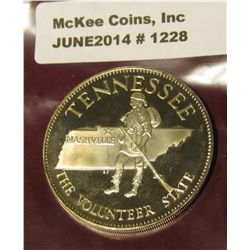1228. Tennessee, 32mm, Sterling Silver Proof.