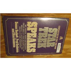 """1246. """"Compiled for the First Time Ever! Star Trek Speaks"""", by Susan Sackett, Fred Goldstein, and St"""
