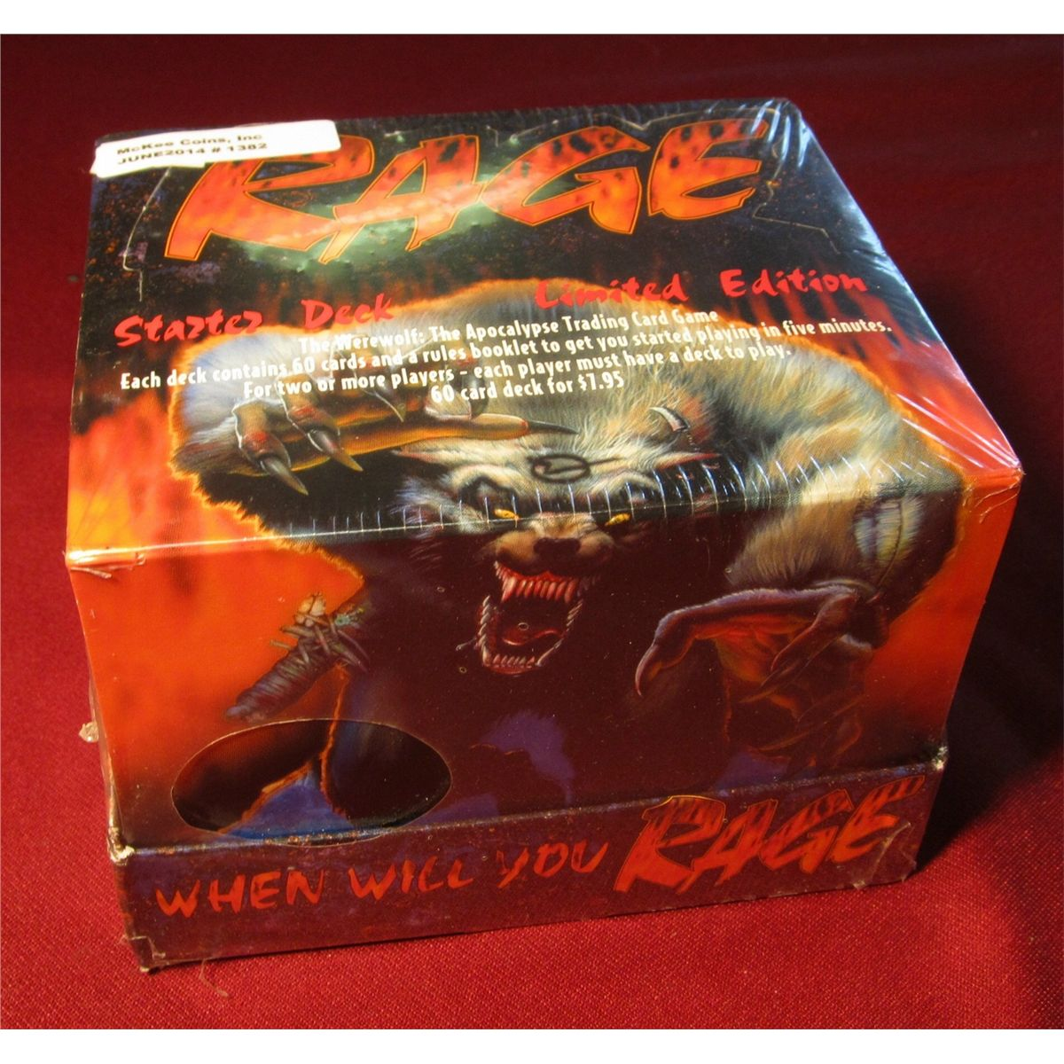 "1382. ""RAGE"" Starter Deck Limited Edition. The Werewolf: The Apocalypse  Trading Card Game. Each deck"