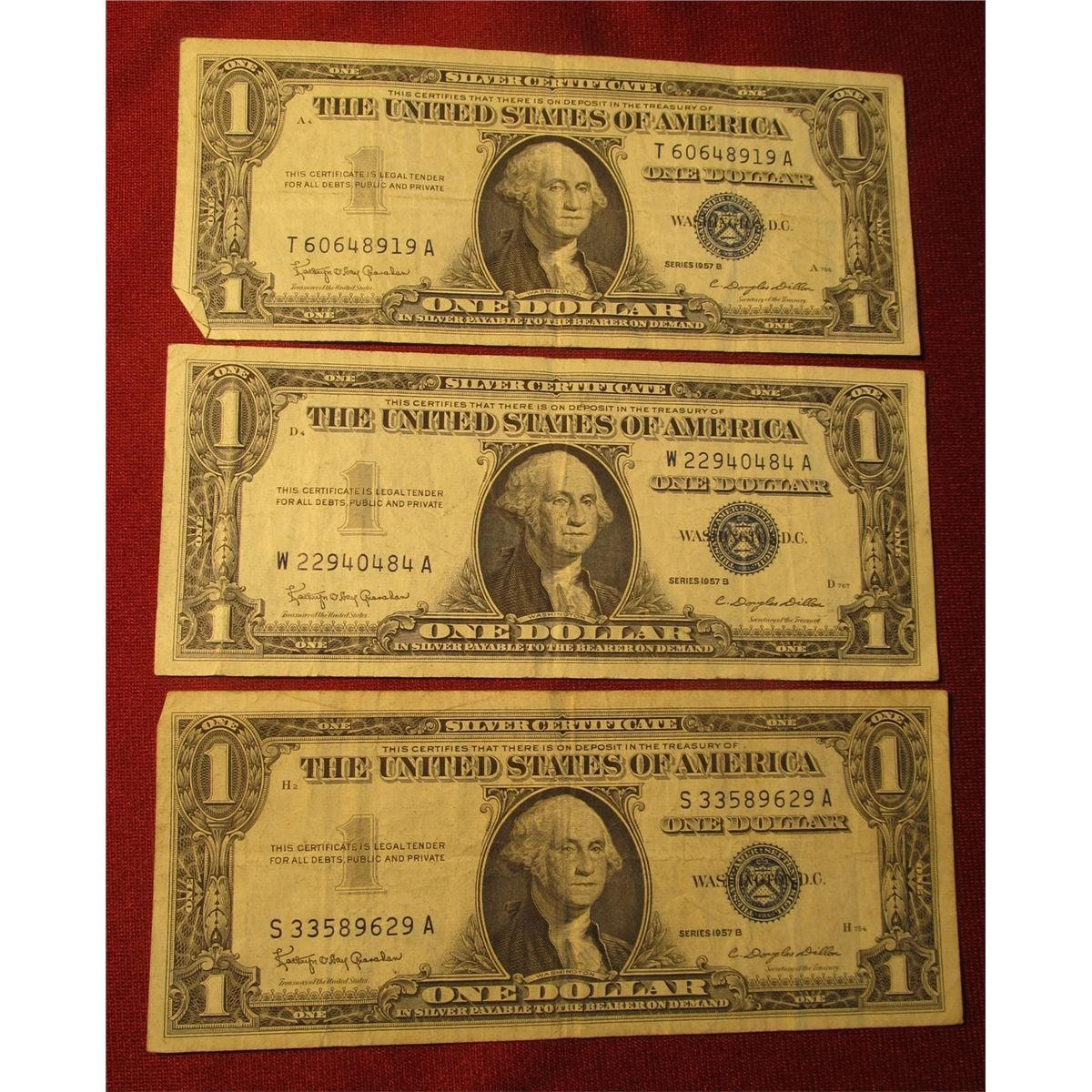 certificate dollar 1957 1572 vf notes