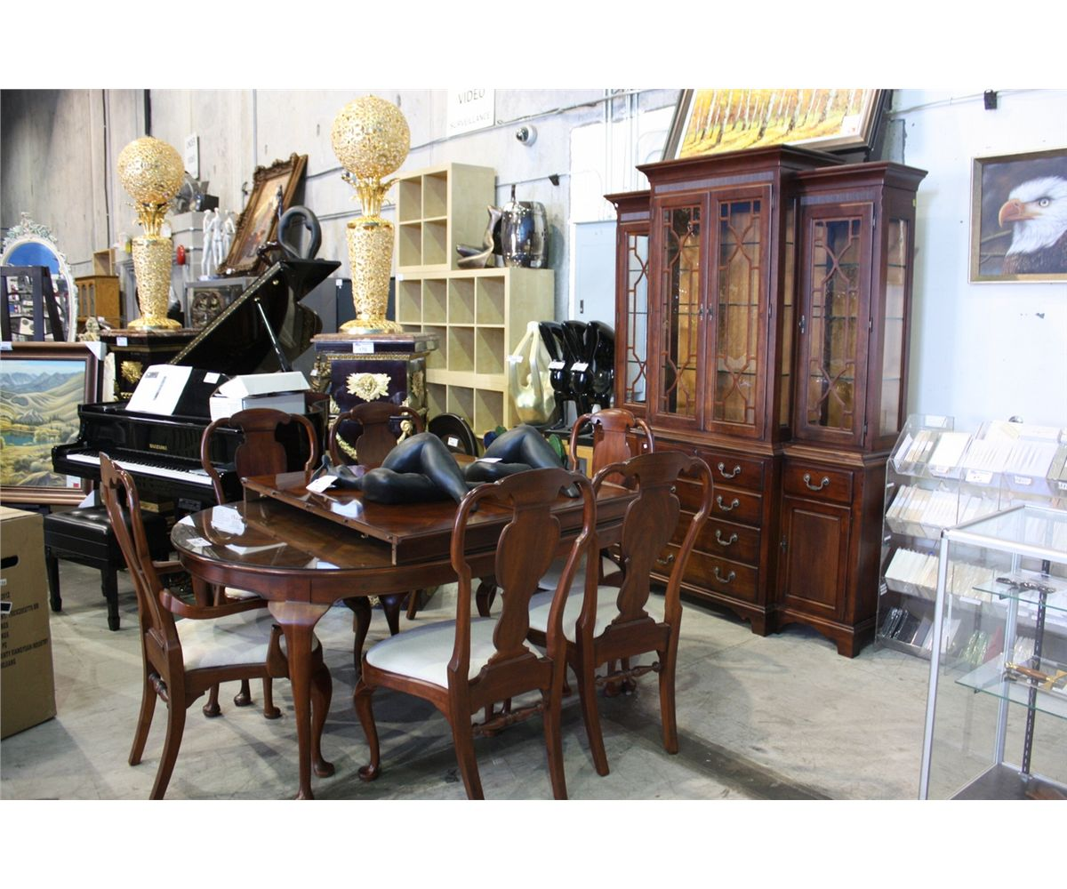 DARK WOOD 11PC DINING SET INCLUDING TABLE 2 LEAF 6  : 200978701 from bid.ableauctions.ca size 1200 x 1000 jpeg 177kB