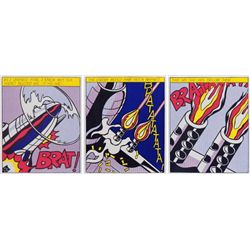 Roy Lichtenstein, As I Opened Fire, Rare Lifetime Edition Triptych