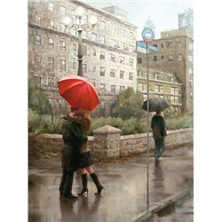 Daniel Del Orfano, First Kiss, Signed Canvas Print