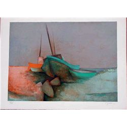 Claude Gaveau, Low Tide, Signed Lithograph