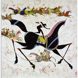 Li Zhong-Liang, Classic Horse Giclee on Canvas