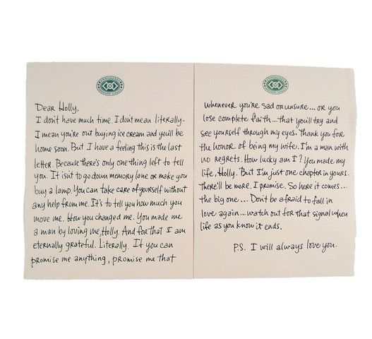 Ps i love you final letter and envelope to holly hilary swank image 2 ps i love you final letter and envelope to holly hilary swank thecheapjerseys Choice Image