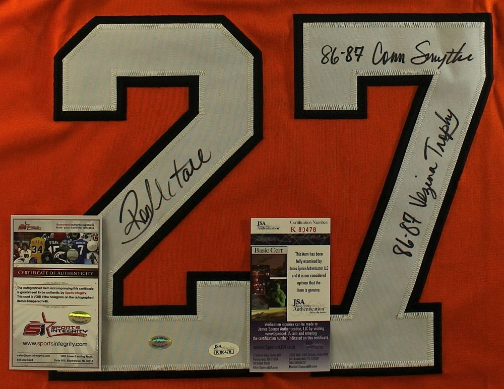 ... Image 2   Ron Hextall Signed Flyers Jersey Inscribed