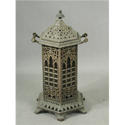 A Victorian cast iron and enamel conservatory heater, 69cm high Est. 150/200...