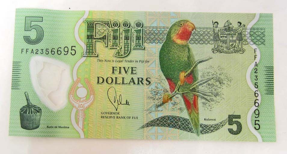 Image 1 2017 Fiji Currency 5 Dollar Bank Note