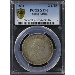 South Africa 1894 ½ Crown PCGS XF 40