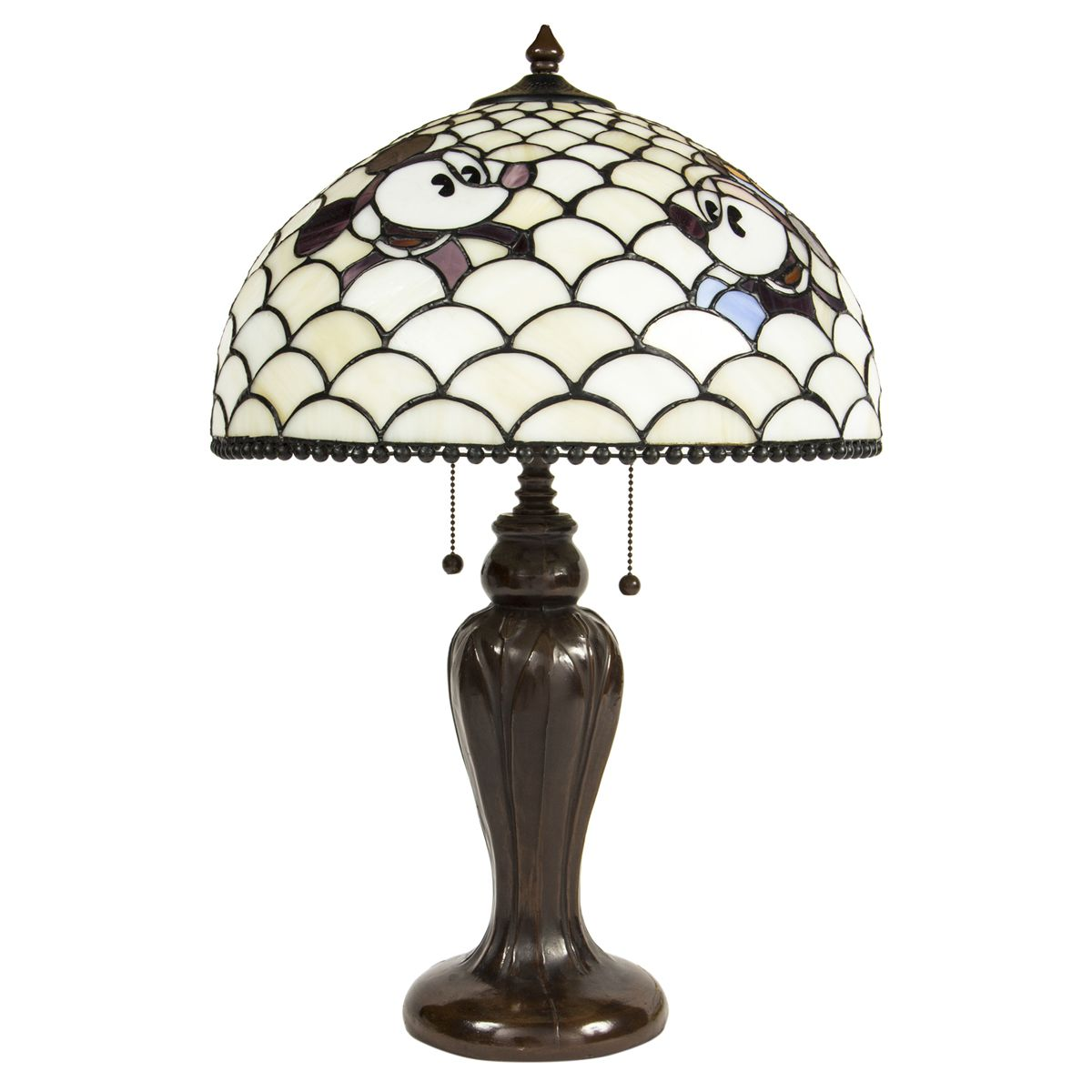 Disney mickey minnie mouse lamp in the style of tiffany studios aloadofball Gallery