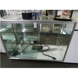 4' Glass Display Case - Contents not included and No Shipping of showcases.
