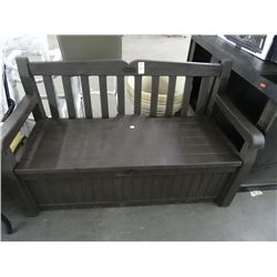 Keter Outdoor Plastic Bench w/Stg.