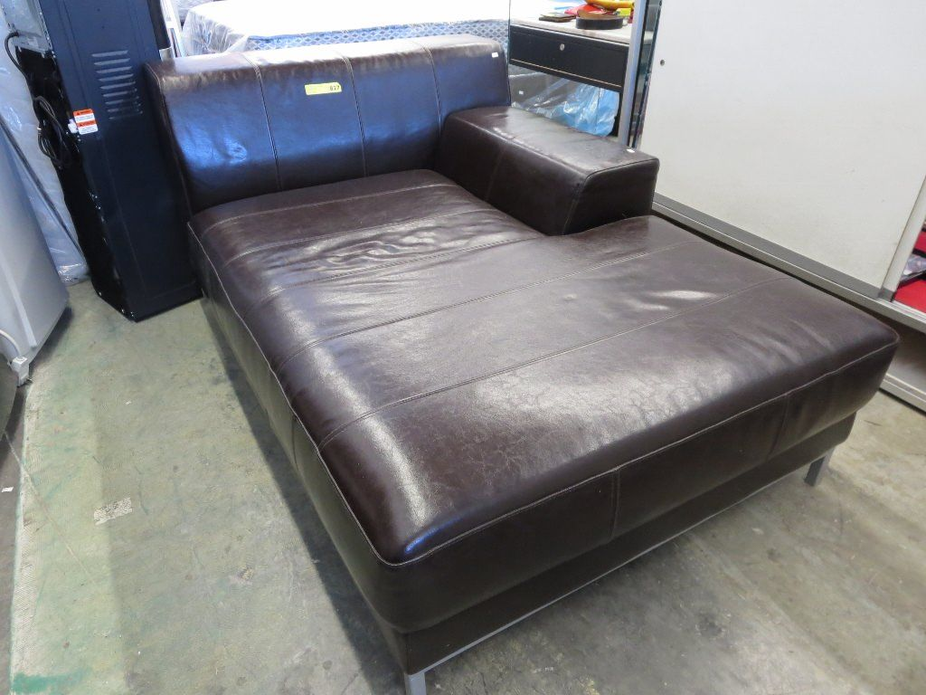 New bonded leather corner unit chaise lounge for Bonded leather chaise lounge