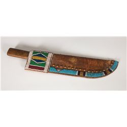 Crow Beaded Knife Sheath