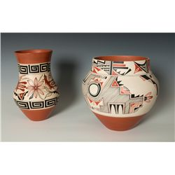 Pair of Jemez Pots by Mary Madalena